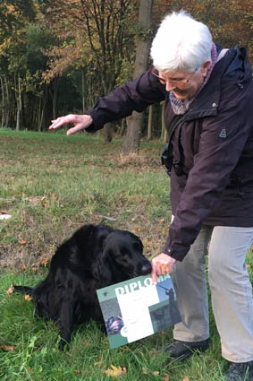Floortje Ewijk 2016 Talloch Dawn Flatcoated Retriever